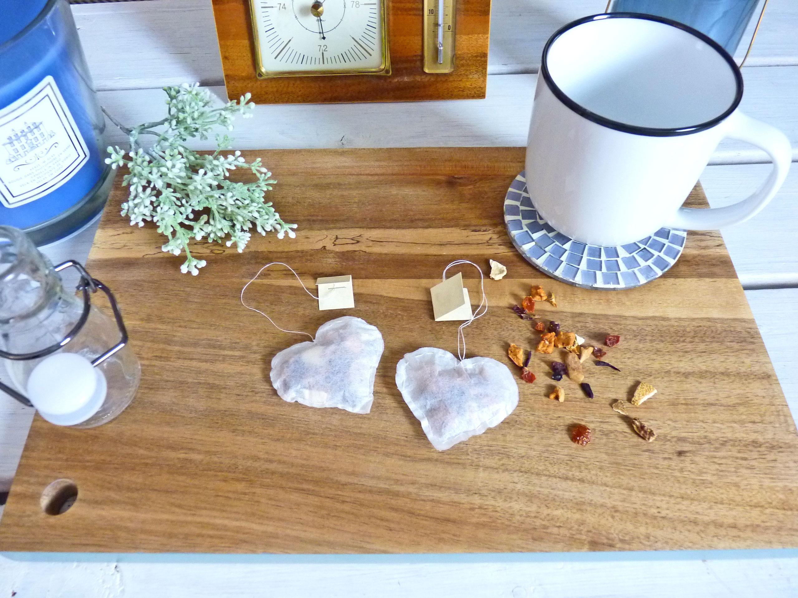 Teebeutel selber machen – Süße Teebeutel Herzen als Last Minute Geschenk für jeden Anlass
