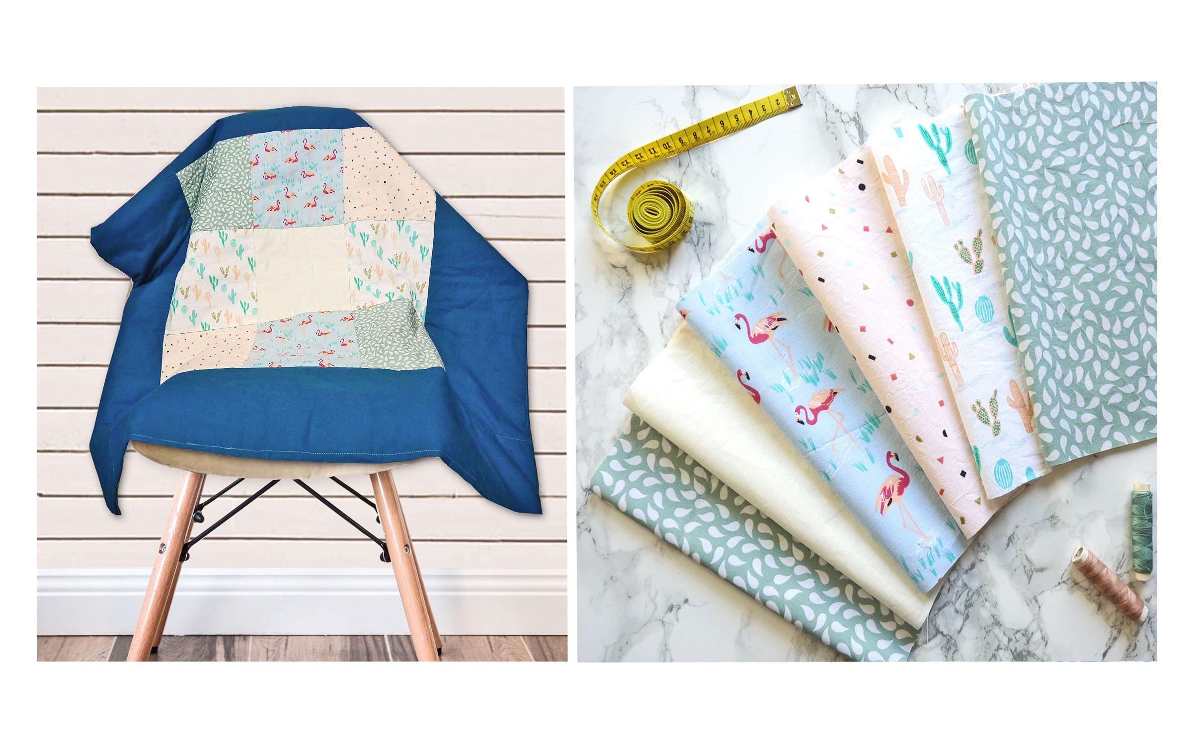 Baby Patchworkdecke ohne Schnittmuster nähen – Anleitung