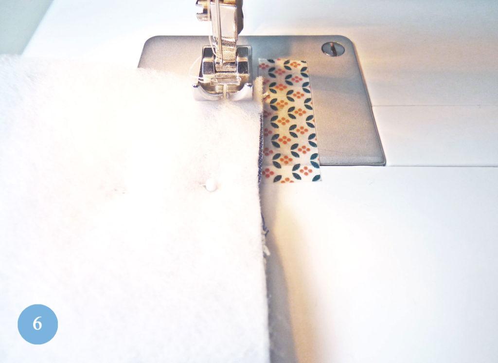 Markierung Nahtzugabe mit Washitape
