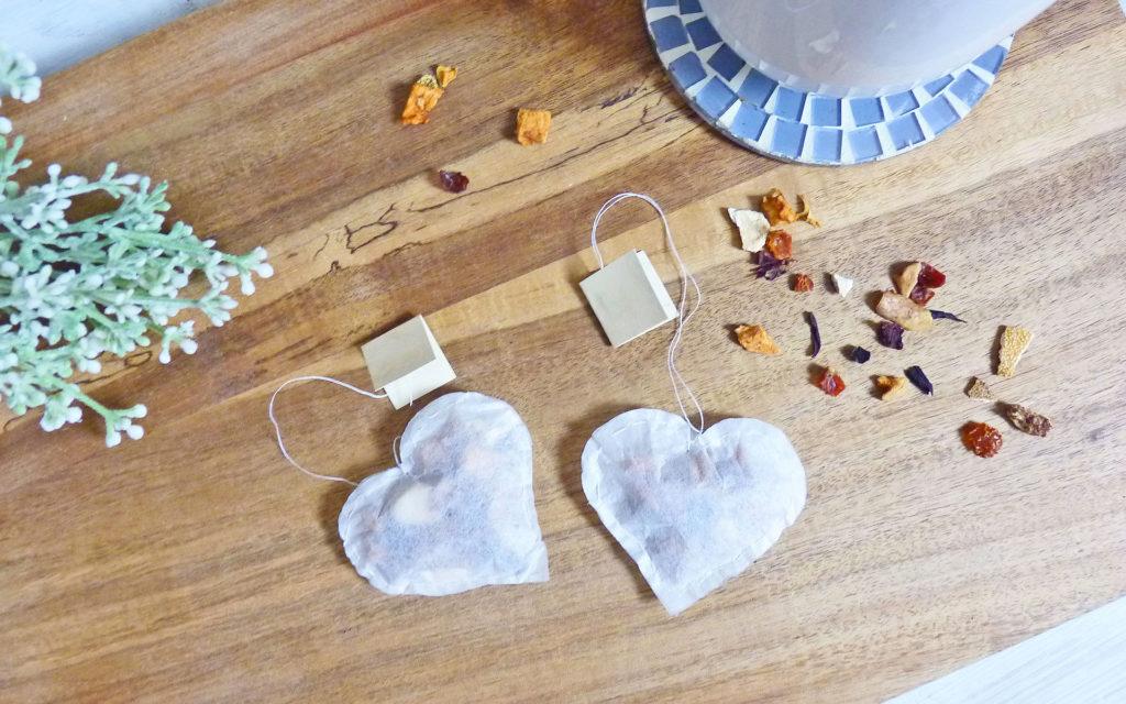 Teebeutel Herzen selber machen