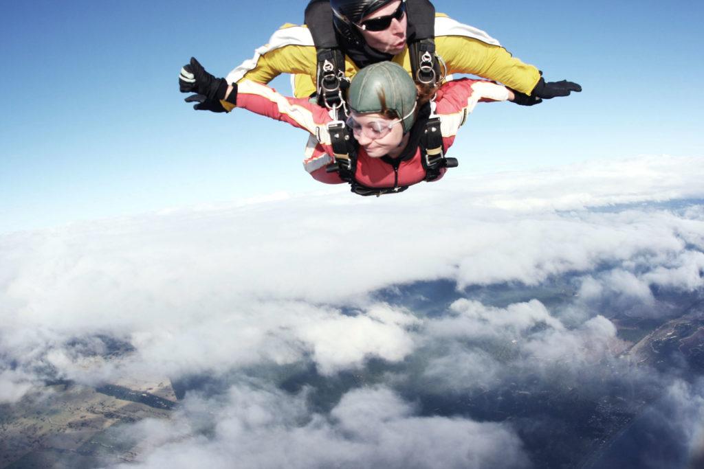 Fallschirmspung 15.000 feet