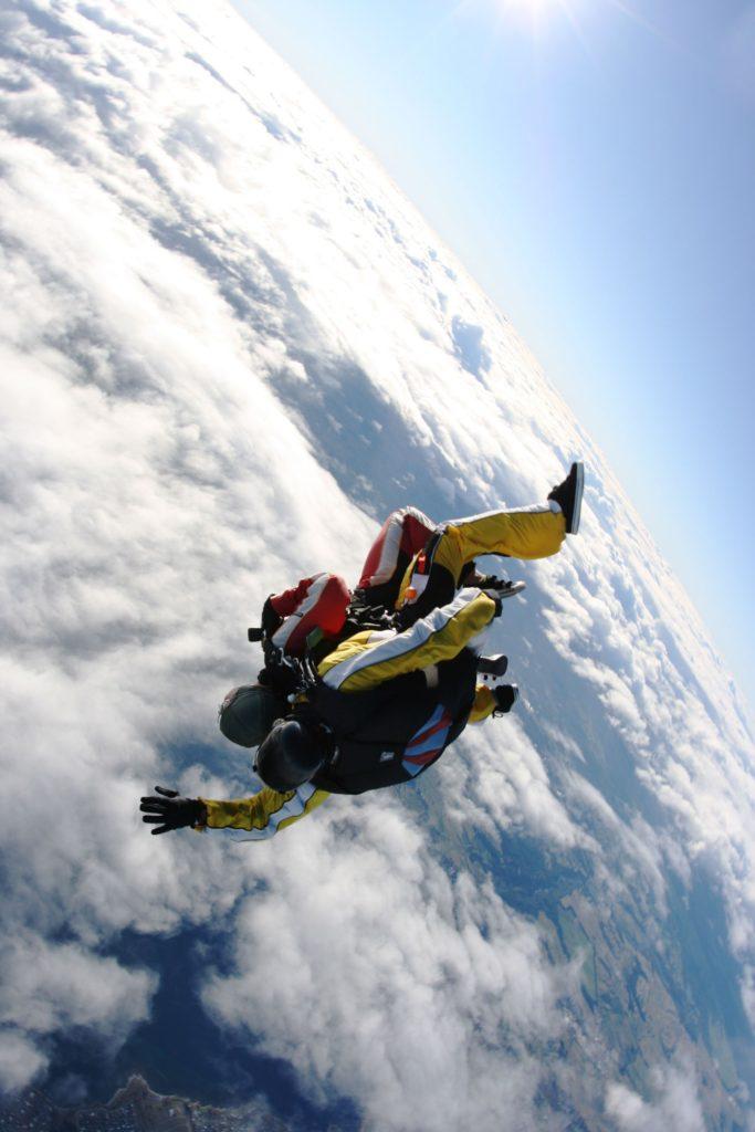 Erdkrümmung bei 15.000 feet