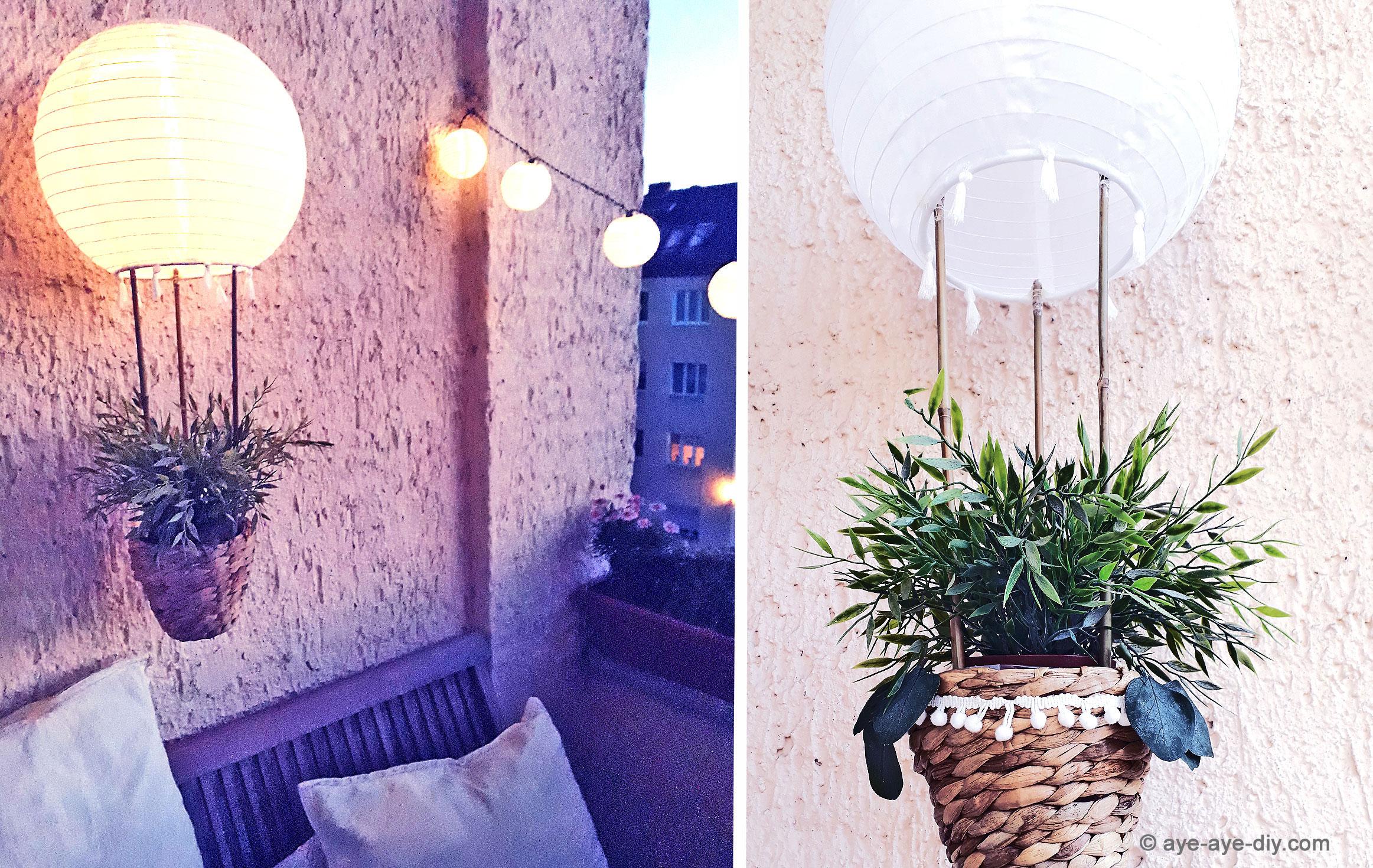 DIY Heißluftballon Solar Lampion für Balkon & Garten – Ikea Hack
