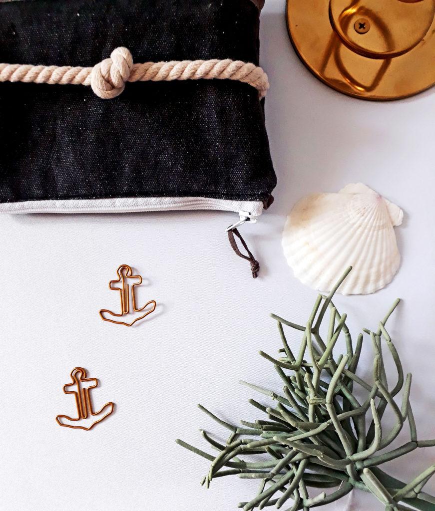 Maritime Tasche mit Seilknoten
