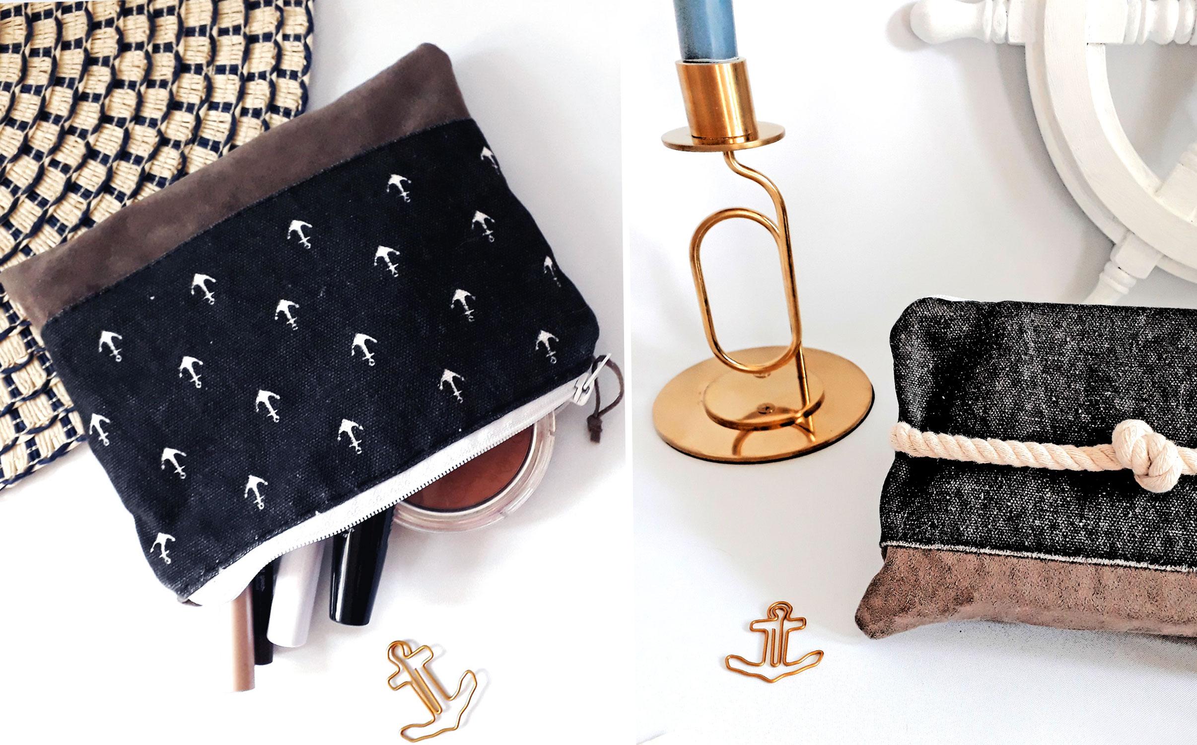 DIY Idee: Maritime Kosmetiktasche selber nähen