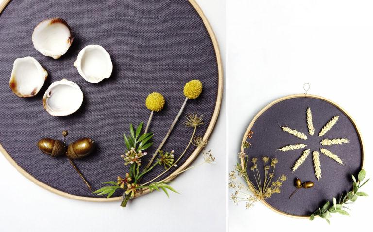 Scandi Stickrahmen Herbst DIY Wreath