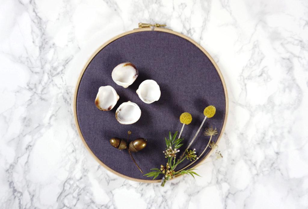 Moderne Herbstdeko DIY im Stickrahmen