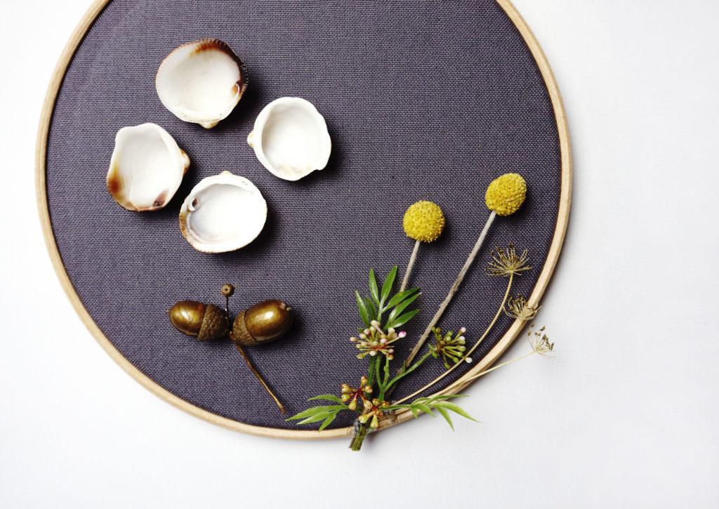 Stickrahmen DIY Bild Herbstdeko