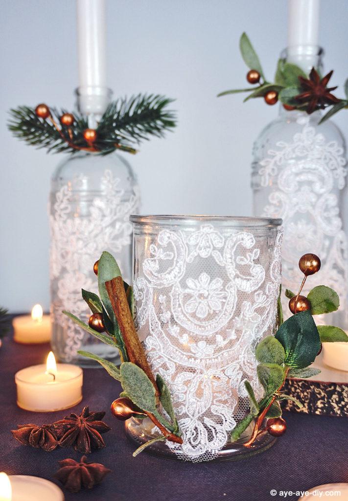 DIY Teelichter Boho Hochzeit