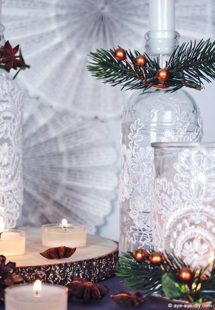 Diy Tischdeko Zur Winterhochzeit Festliche Teelichter Basteln Aye