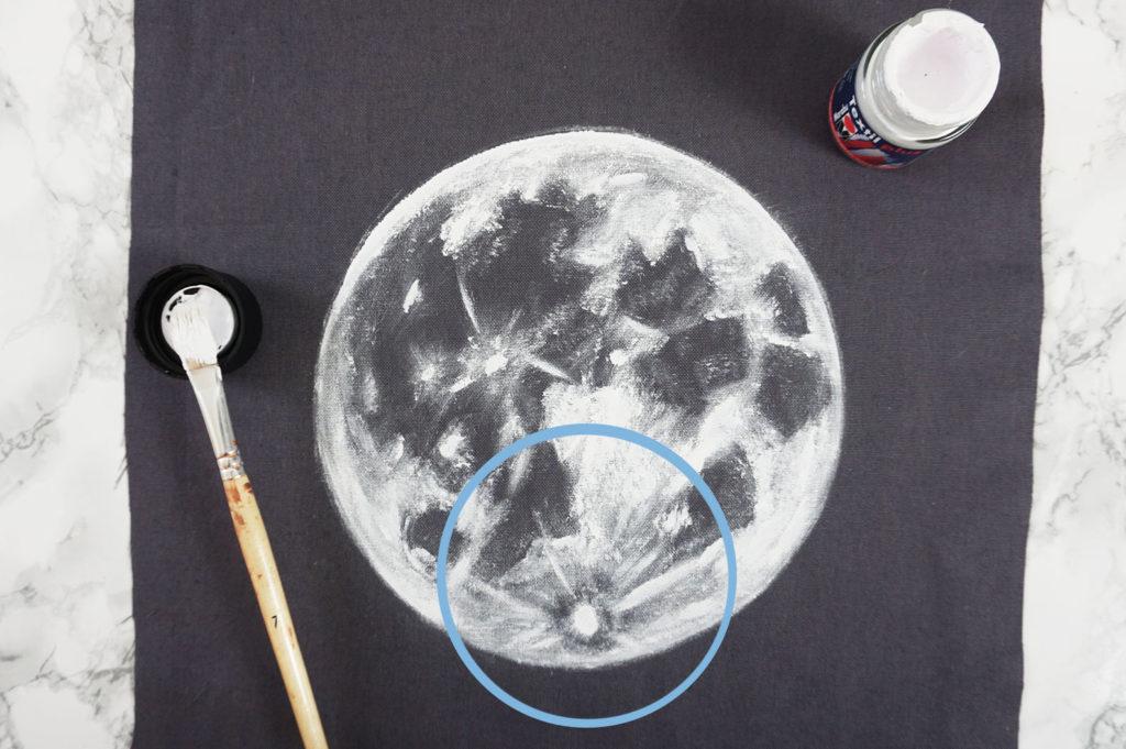 Mond Struktur nachmalen