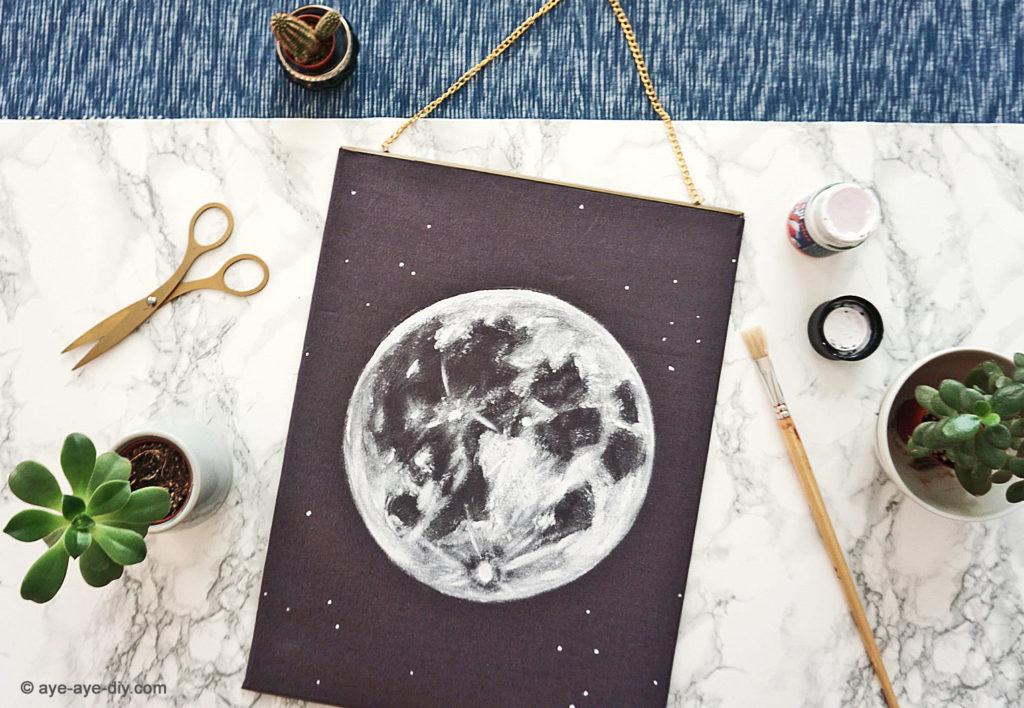 Wandbild Mond DIY