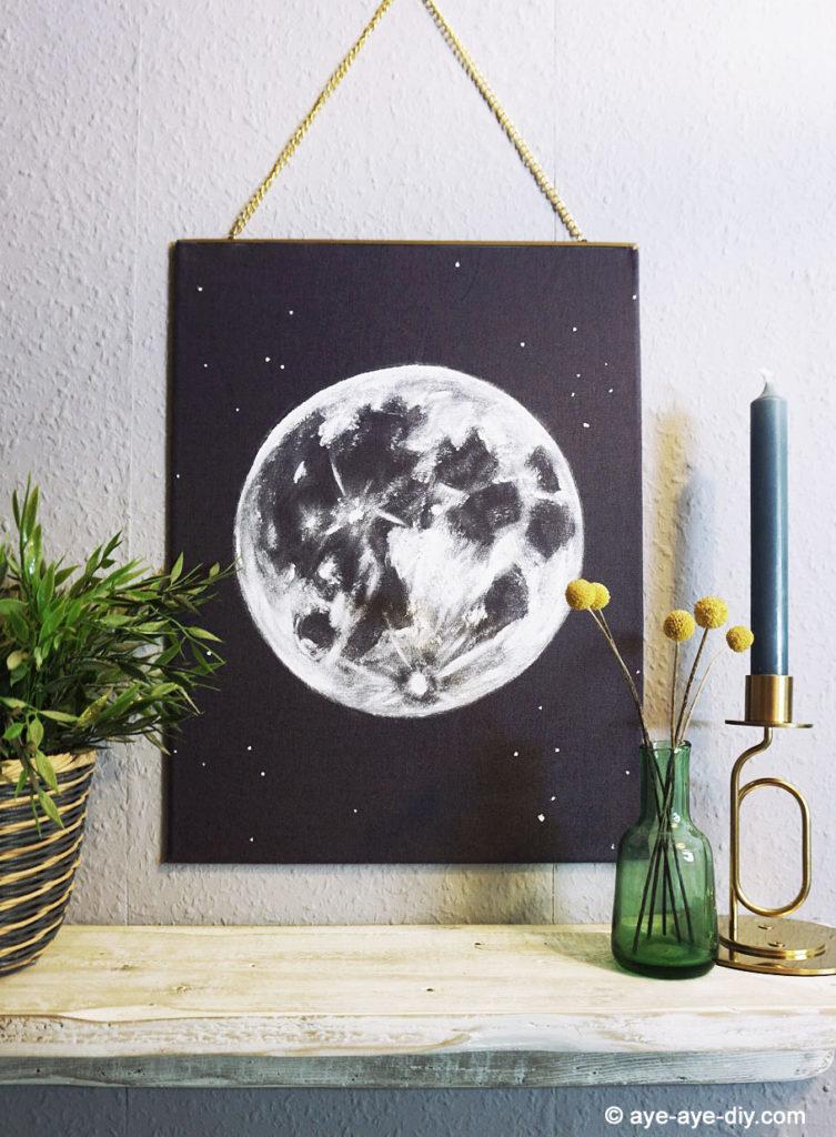Mondbild Wanddeko