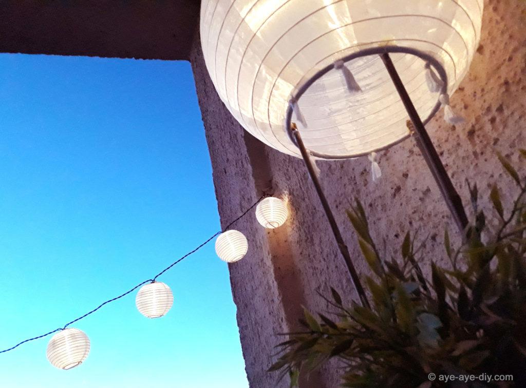 Solar Lampion DIY Deko für Balkon und Garten