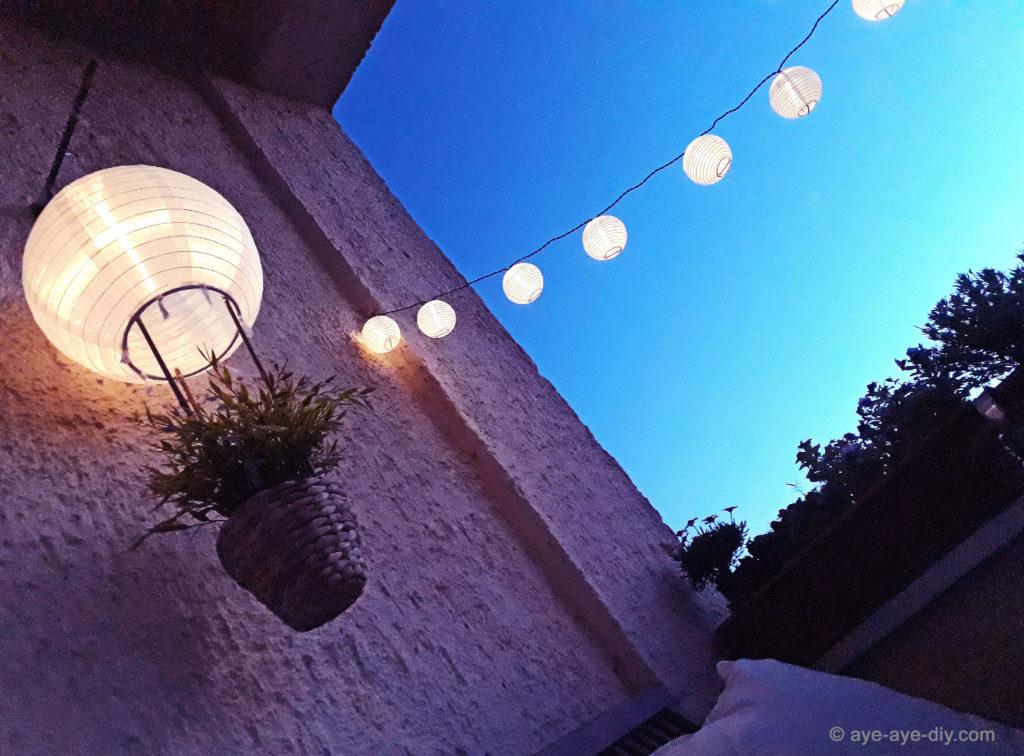 diy hei luftballon solar lampion f r balkon garten. Black Bedroom Furniture Sets. Home Design Ideas