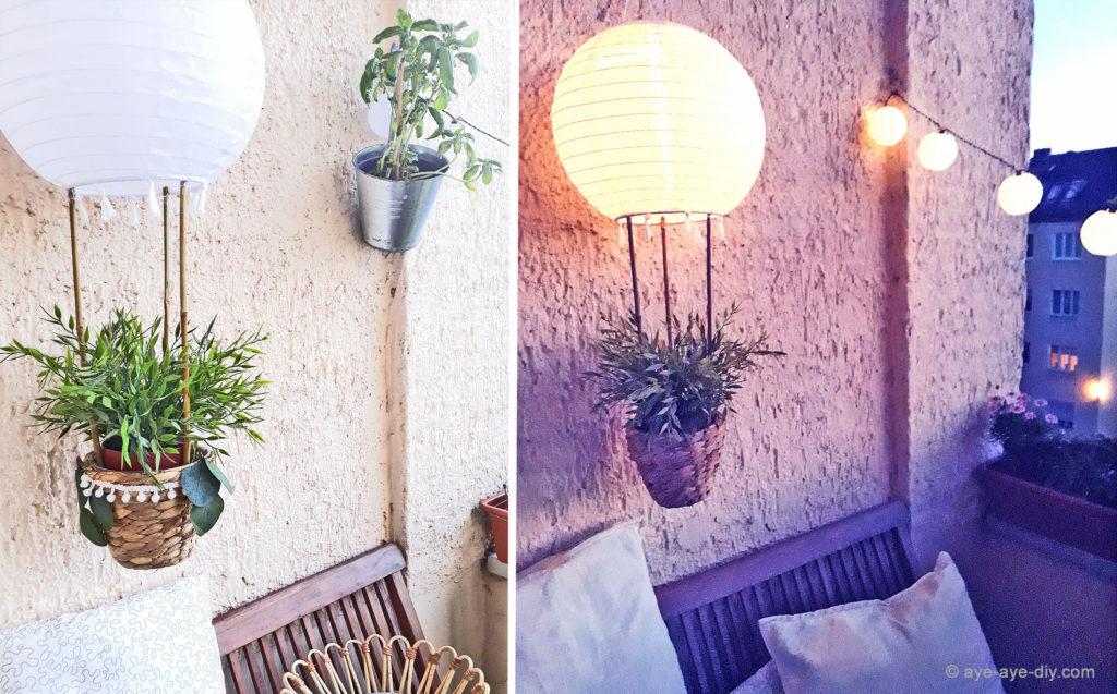 Solar DIY Heißluftballon Ergebnis