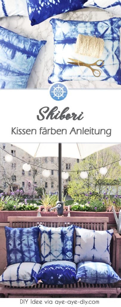 Pinterest Pin Shibori Kissen