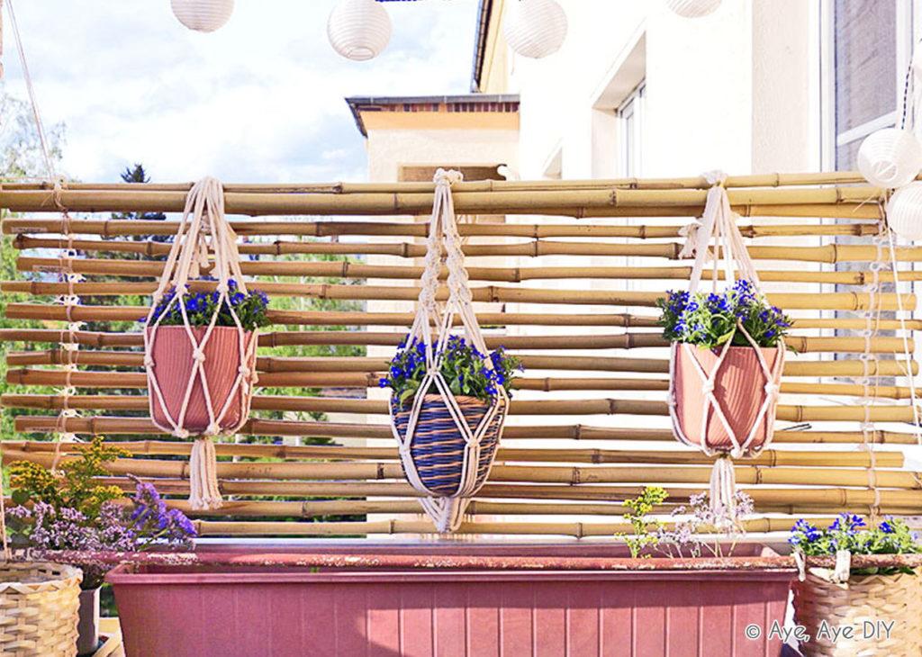 Fertiger DIY Bambus Sichtschutz