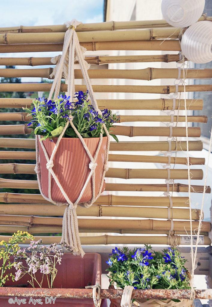 Bambus Sichtschutz Wand aufhängen