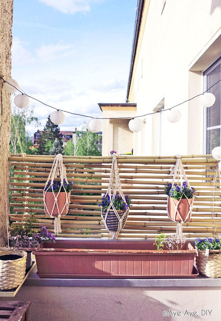Bambus Sichtschutz bauen