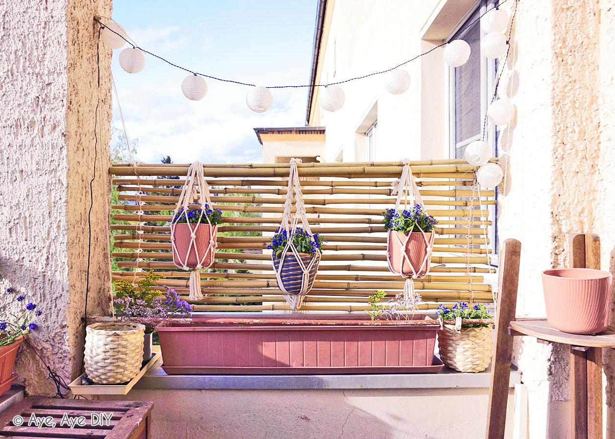 Bambus Sichtschutz Selber Bauen Diy Balkon Idee Aye Aye Diy