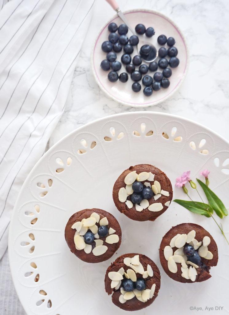 Muffins auf DIY Etagere
