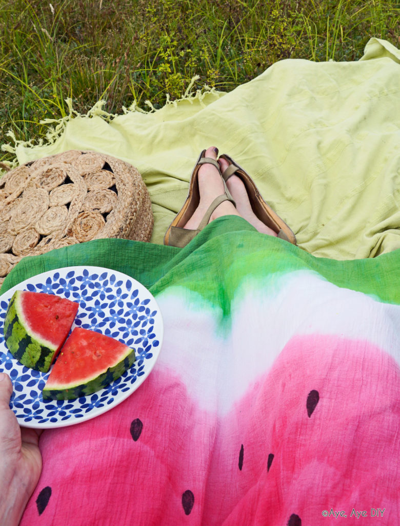 Batik Rock Wassermelonen Farbverlauf
