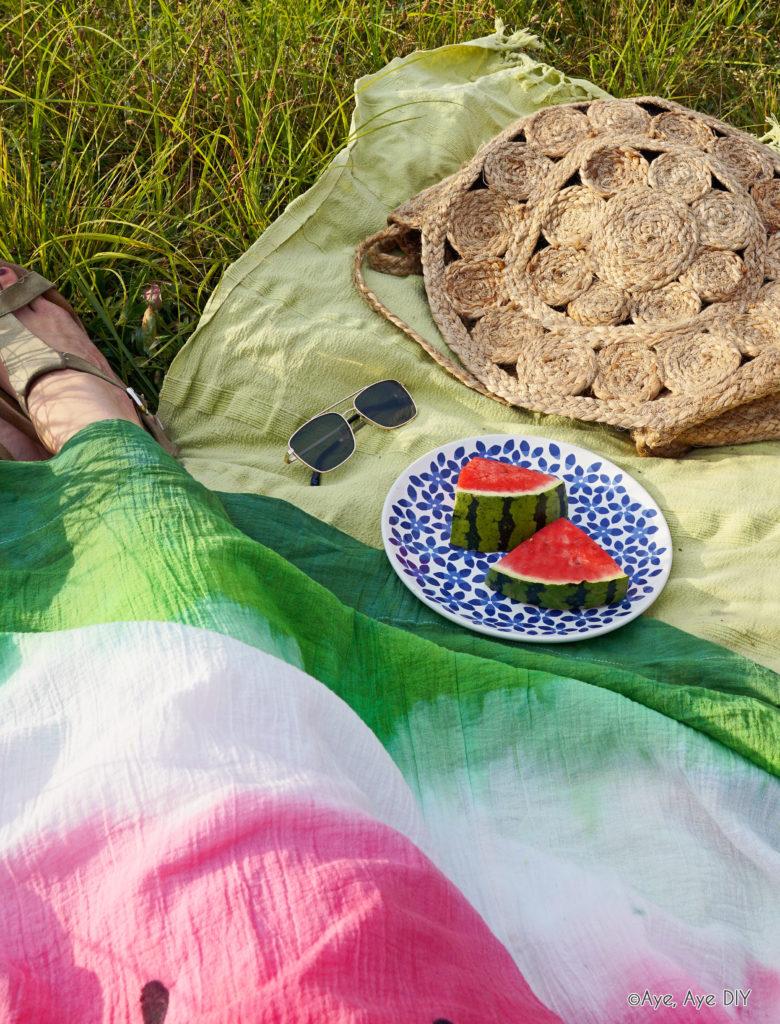 Batik Wassermelone Farbverlauf