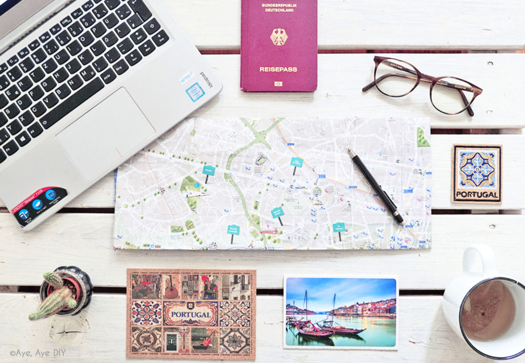 Reiseplanung Flatlay Bild