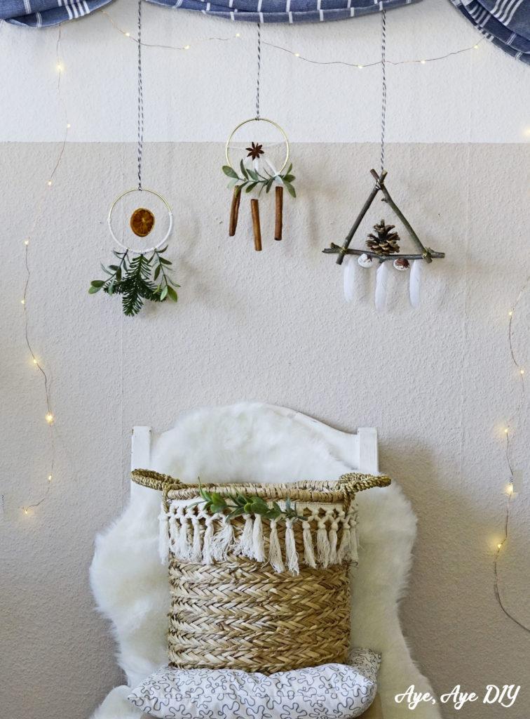 Scandi Weihnachtsdeko aus Naturmaterialien basteln
