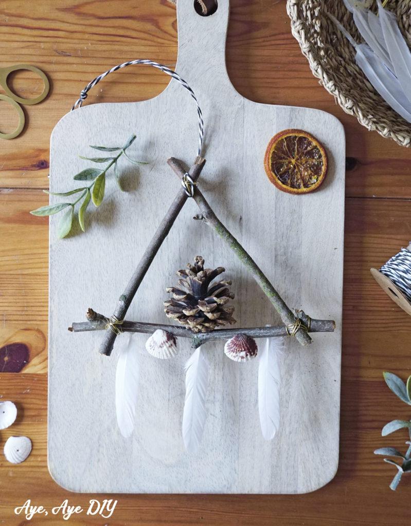 Scandi Weihnachtsdeko basteln mit Zweigen