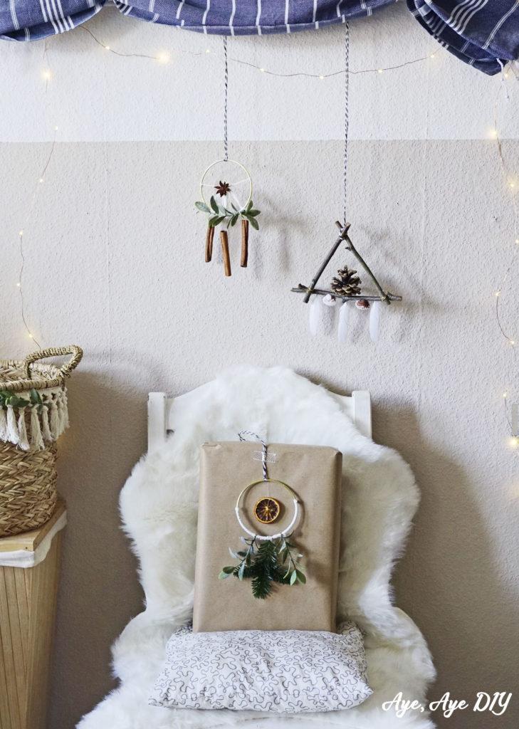 Geschenke verpacken skandinavisch - Weihnachtsdeko basteln