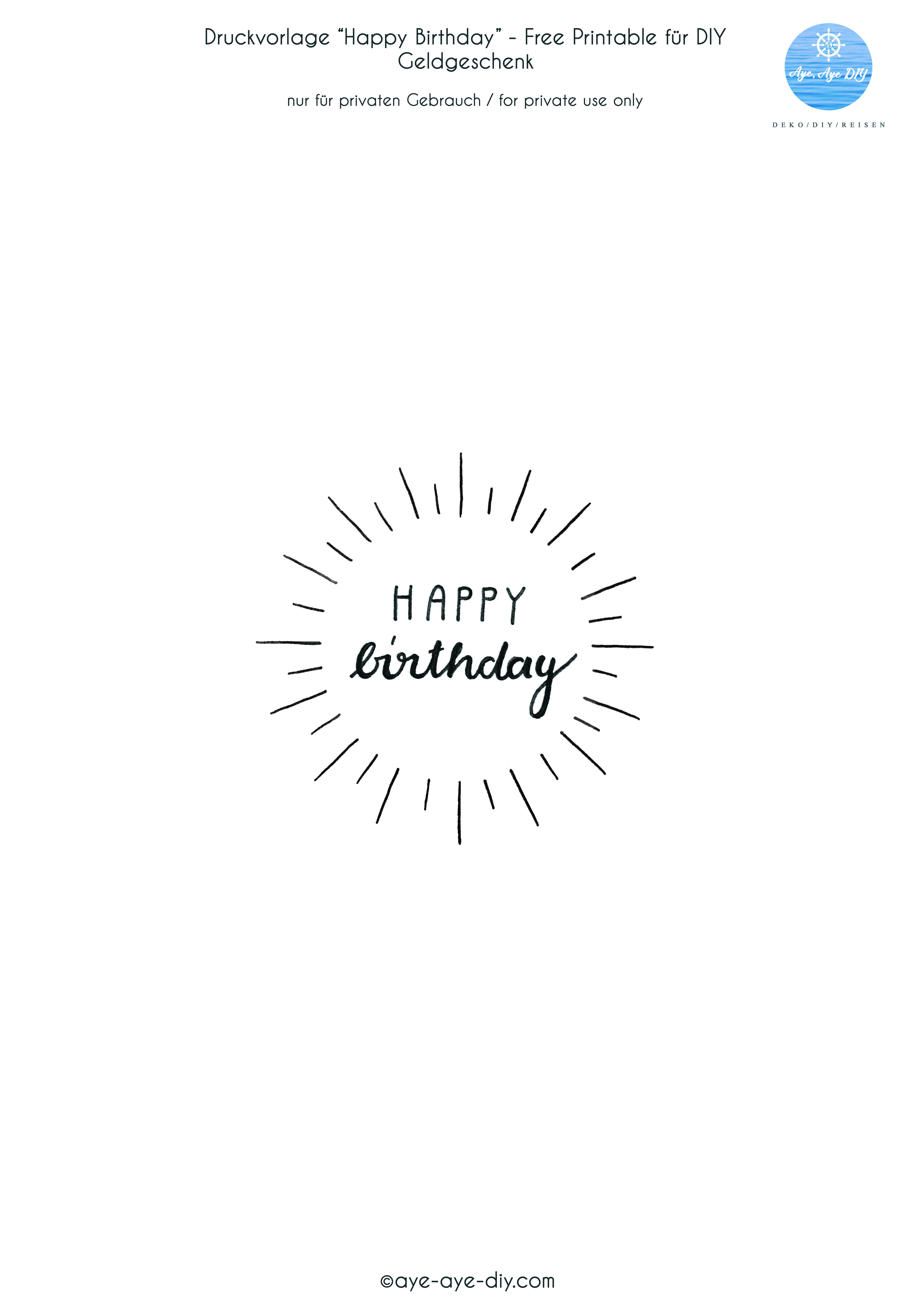 Happy birthday vorlage zum ausdrucken