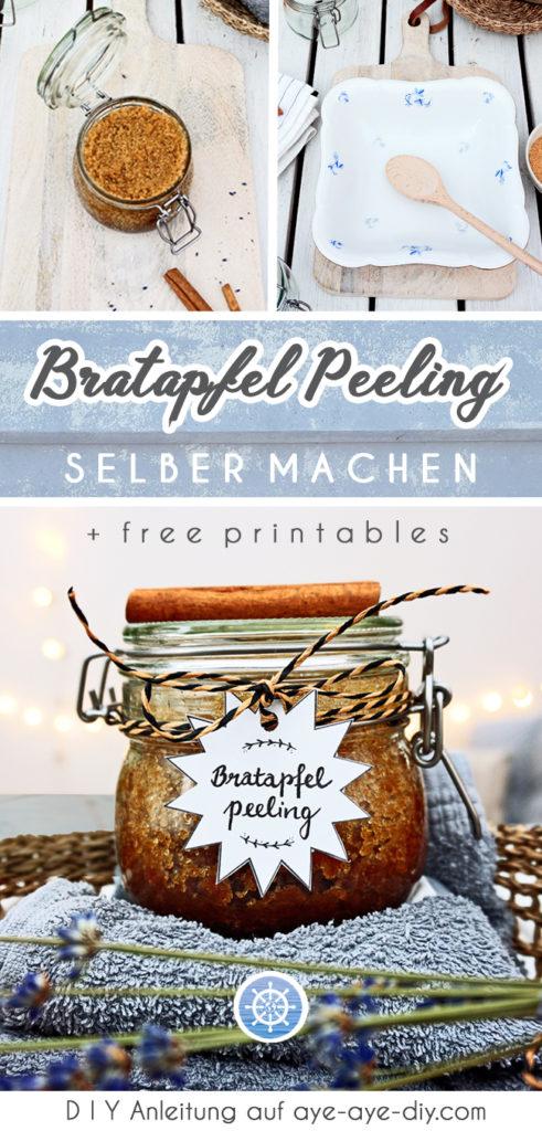 Bratapfel Peeling selber machen DIY Geschenkidee Weihnachten Weihnachtsgeschenk basteln