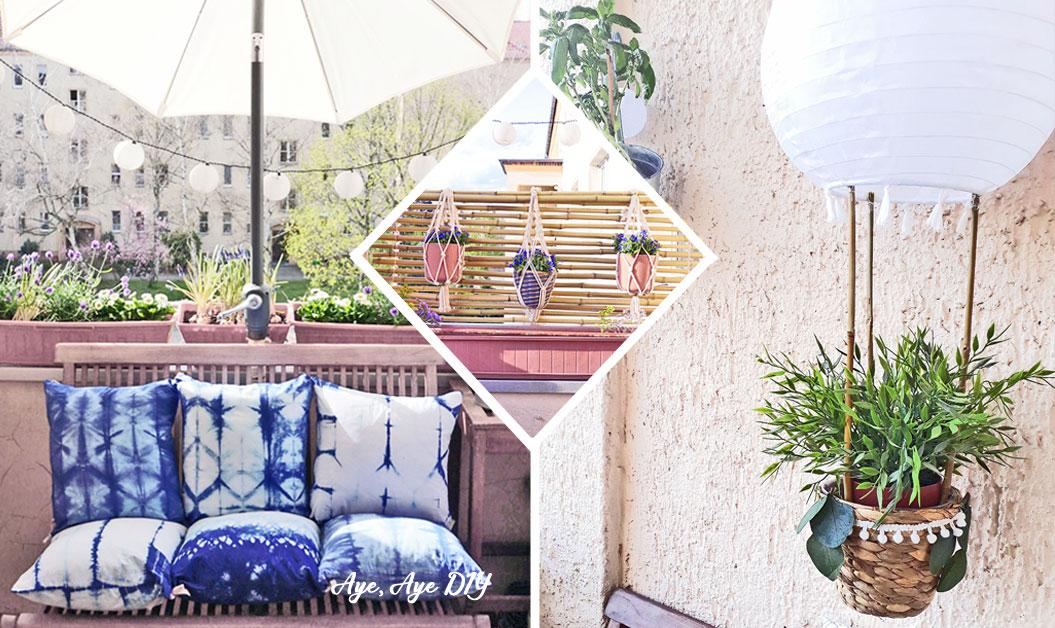 3 DIY Balkon Ideen – Deko Tipps für Frühling & Sommer