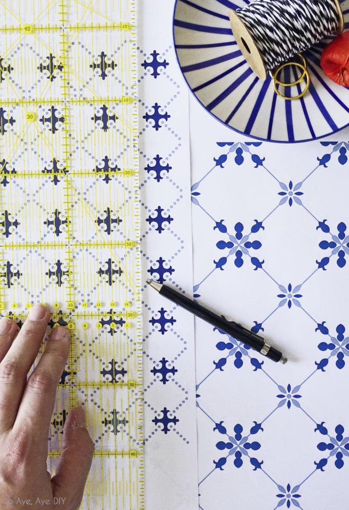 DIY Herbst Deko Laterne aus Papier basteln