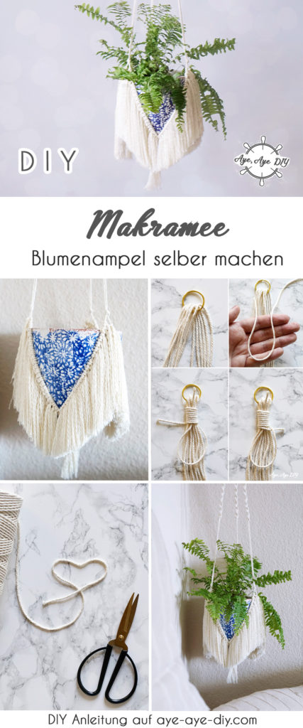 Pinterest Pin Makramee Blumenampel DIY