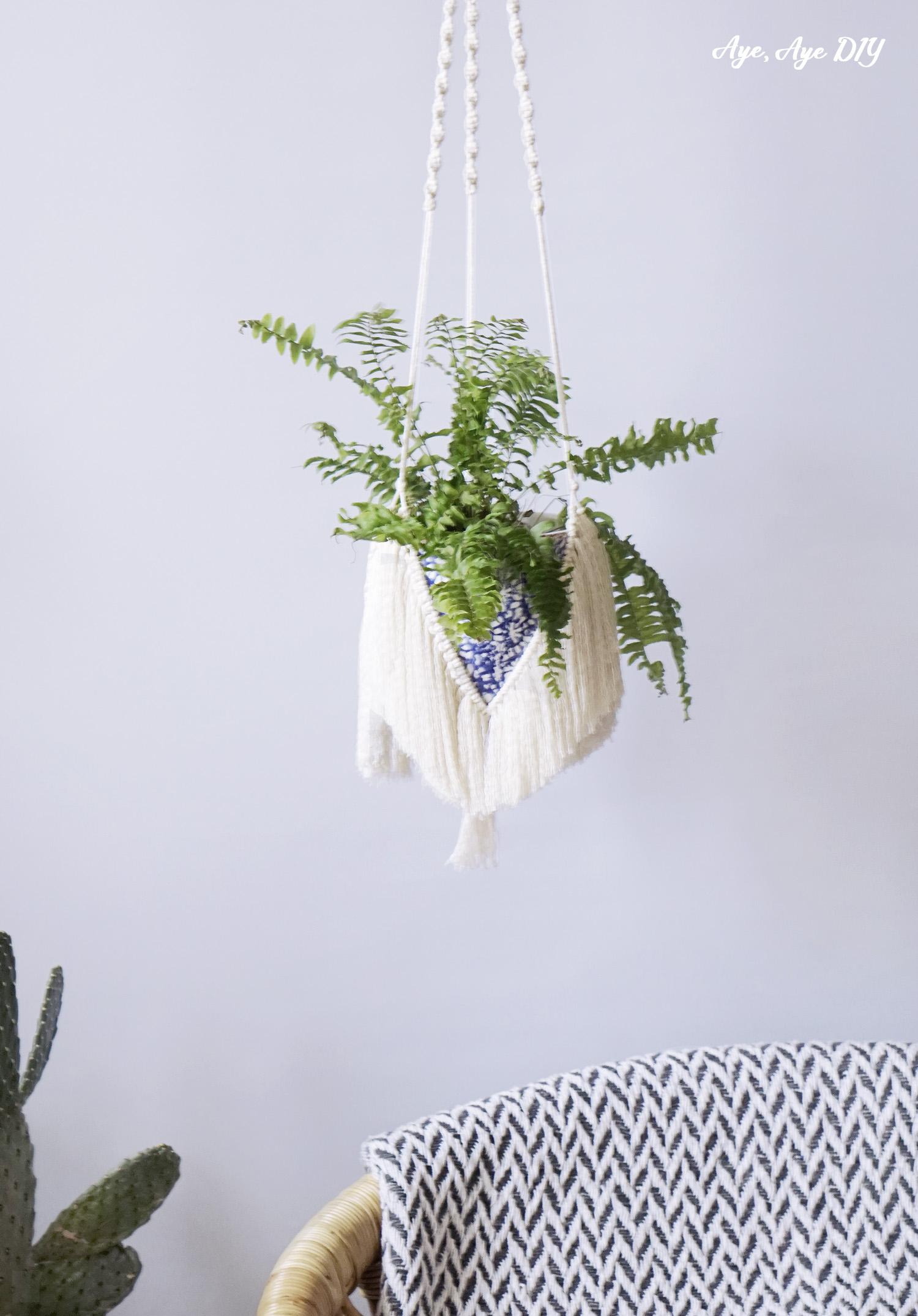 Makramee Blumenampel selber machen – Wellenknoten DIY Anleitung