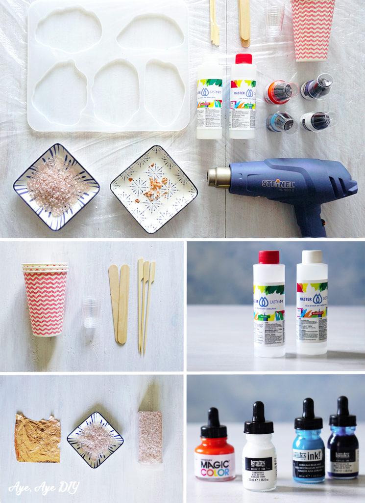 Materialien für Resin Untersetzer aus Epoxidharz