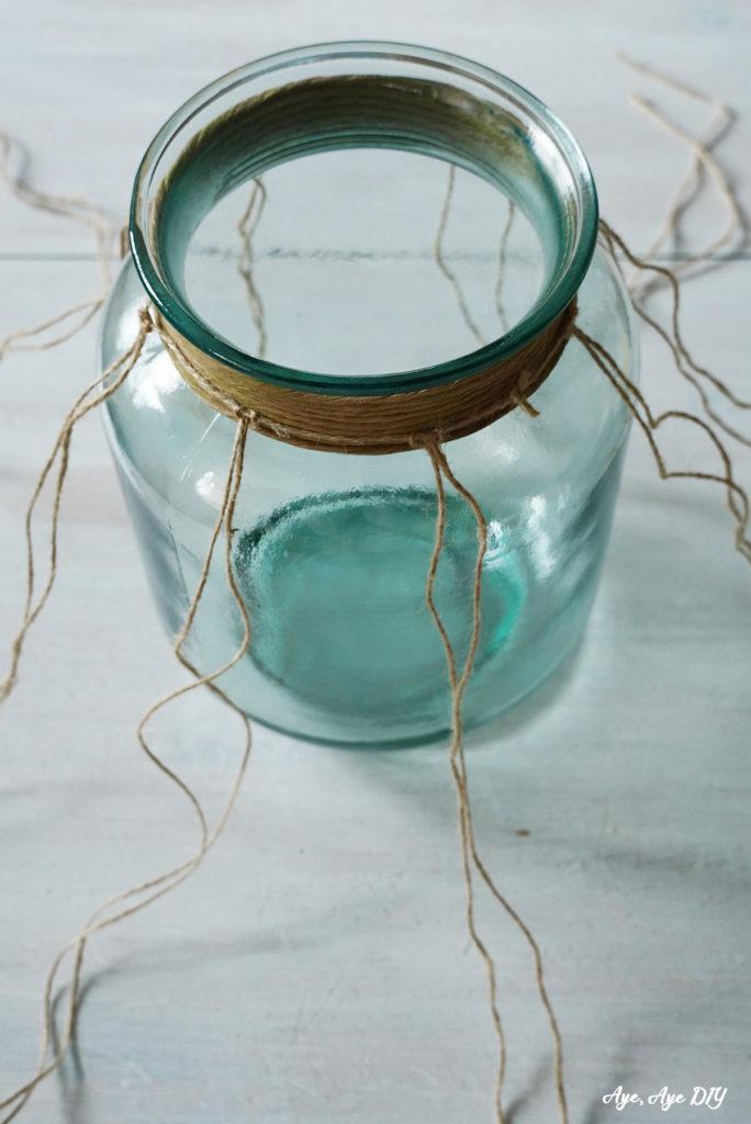 DIY Anleitung Teelicht im FIschernetz Look knüpfen