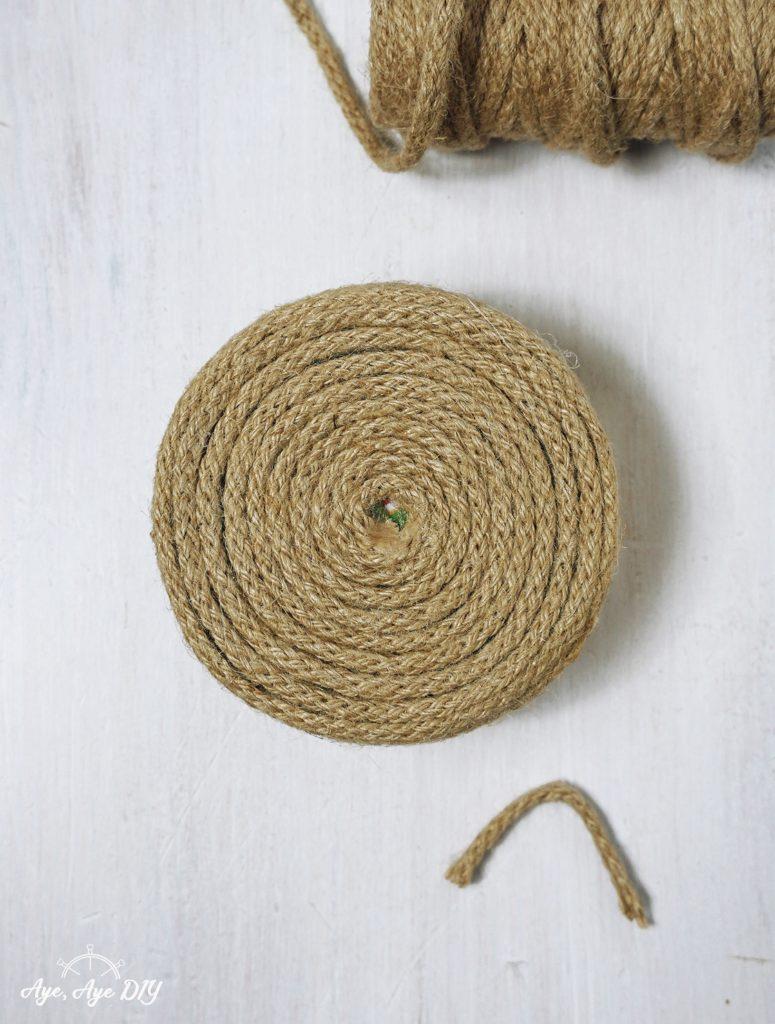 Schritt 3: Upcycling von alten Dosen mit Seil Anleitung Rope DIY