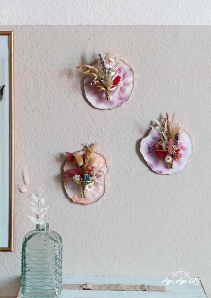 Resin Coasters selber machen Wandbild DIY Boho Herbst Deko