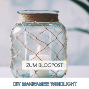 DIY Makramee Windlicht