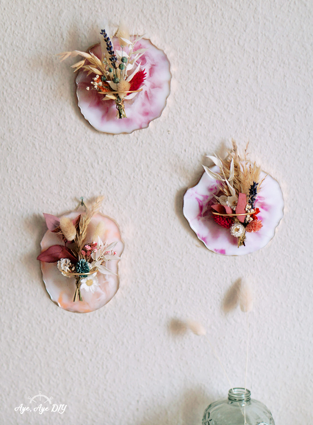 DIY Resin Coaster als Wandbild Herbst DIY Deko