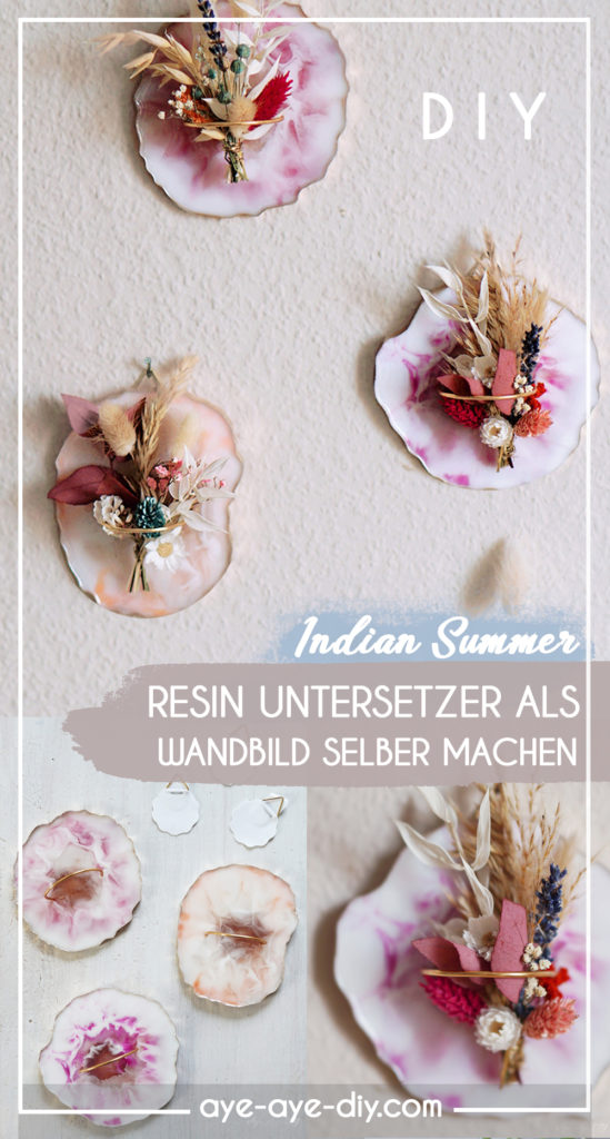 Pinterest Pin: DIY Idee merken Resin Coaster selber machen