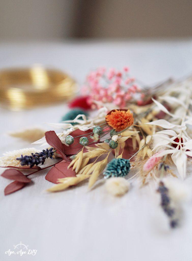Trockenblumen Materialien
