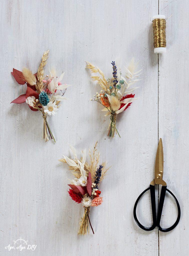 Mini Trockenblumen Sträuße selber machen