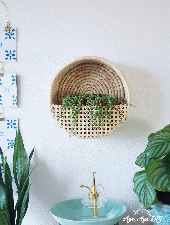 Wiener Geflecht DIY: Wandkorb für Pflanzen selber machen