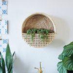 Wiener Geflecht DIY Möbel Wand Korb für Pflanze Urban Jungle Deko Idee
