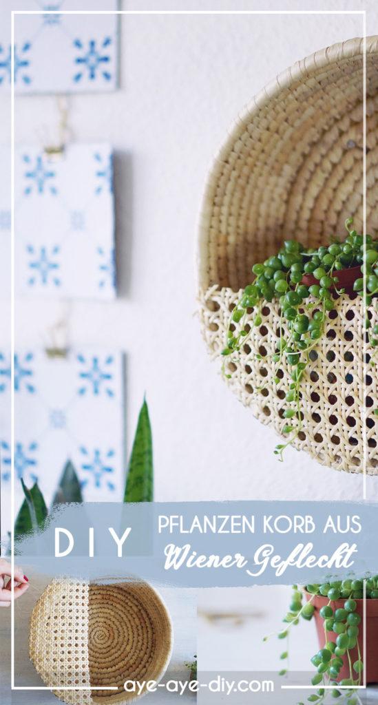 Pinterest Pin: Wiener Geflecht DIY für später merken